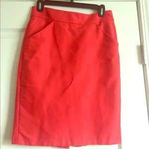 J. Crew Pencil Skirt in double serge cotton